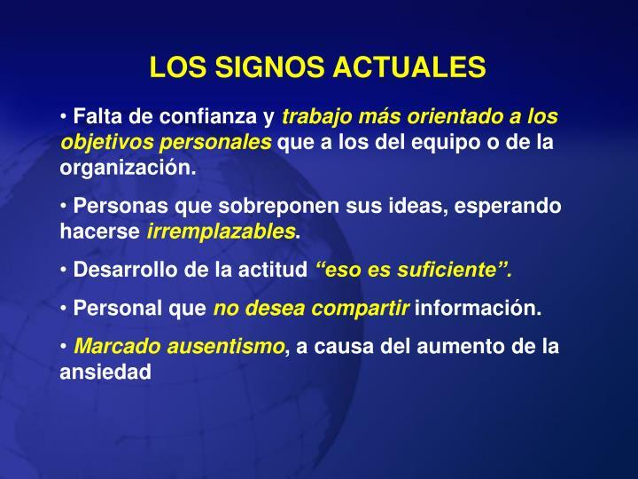LOS SIGNOS ACTUALES