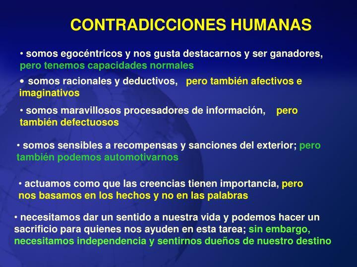 CONTRADICCIONES HUMANAS