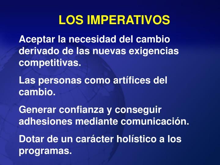 LOS IMPERATIVOS