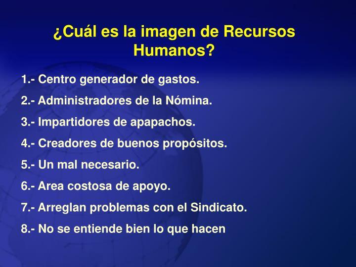 ¿Cuál es la imagen de Recursos Humanos?