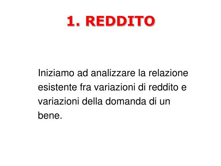 1. REDDITO