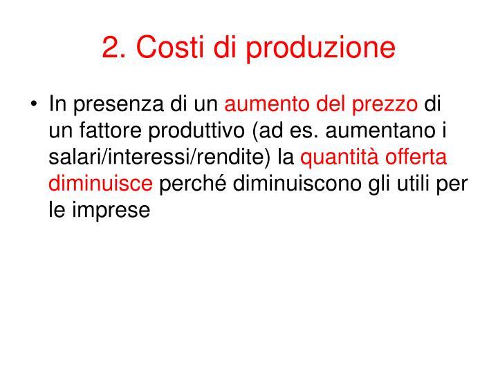 2. Costi
