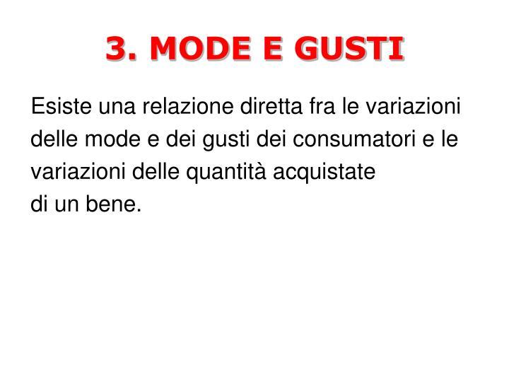 3. MODE E GUSTI