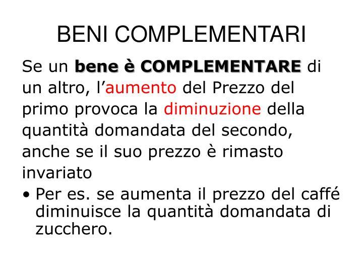 BENI COMPLEMENTARI