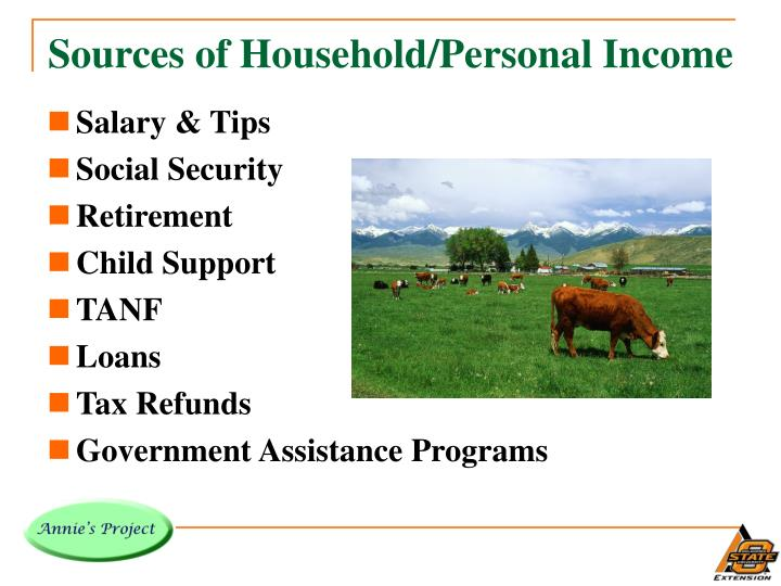 Sources of Household/Personal Income