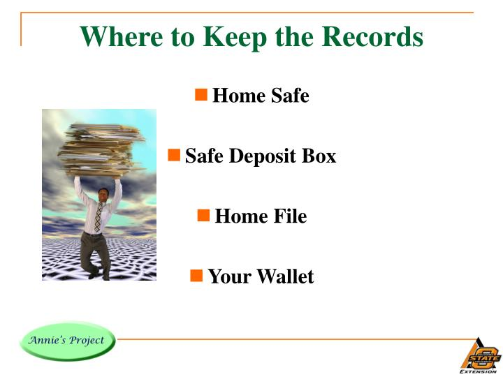 Where to Keep the Records