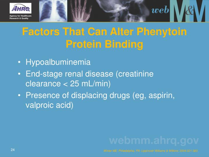 Factors That Can Alter Phenytoin Protein Binding