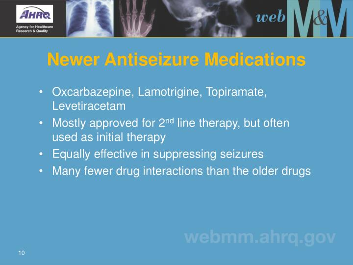 Oxcarbazepine, Lamotrigine, Topiramate, Levetiracetam