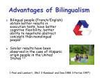 advantages of bilingualism