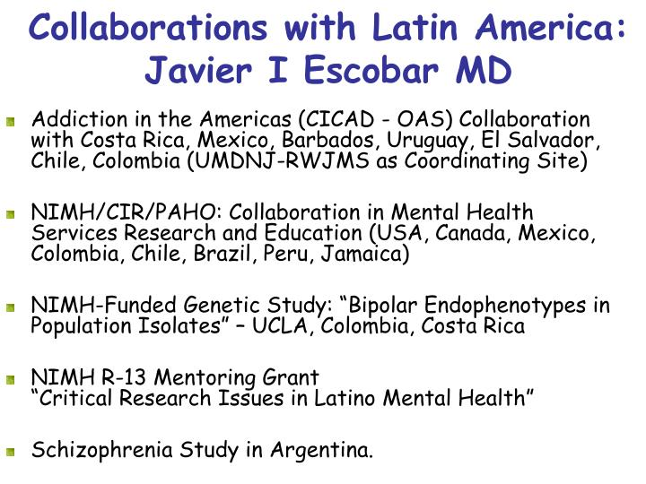Collaborations with Latin America: