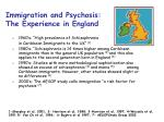 immigration and psychosis the experience in england