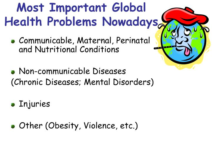 Most Important Global Health Problems Nowadays