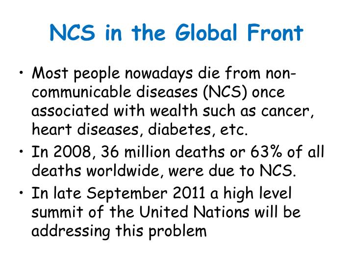 NCS in the Global Front