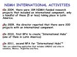 nimh international activities