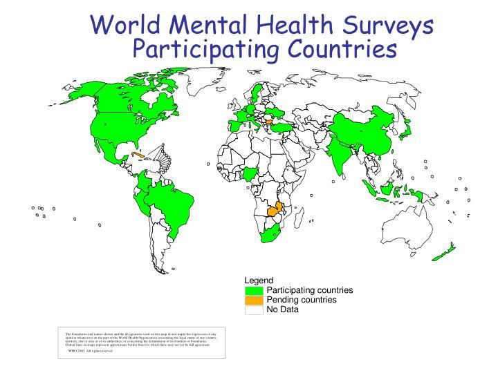 World Mental Health Surveys