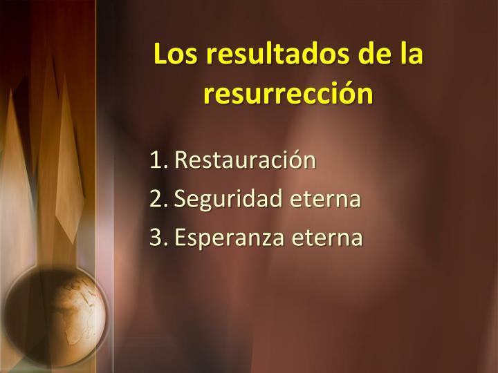 Los resultados de la resurrección