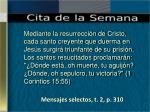 mensajes selectos t 2 p 310