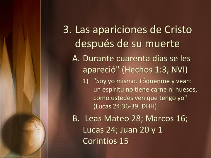 Las apariciones de Cristo después de su muerte