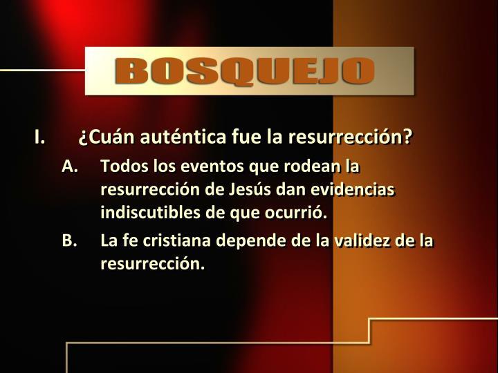 ¿Cuán auténtica fue la resurrección?