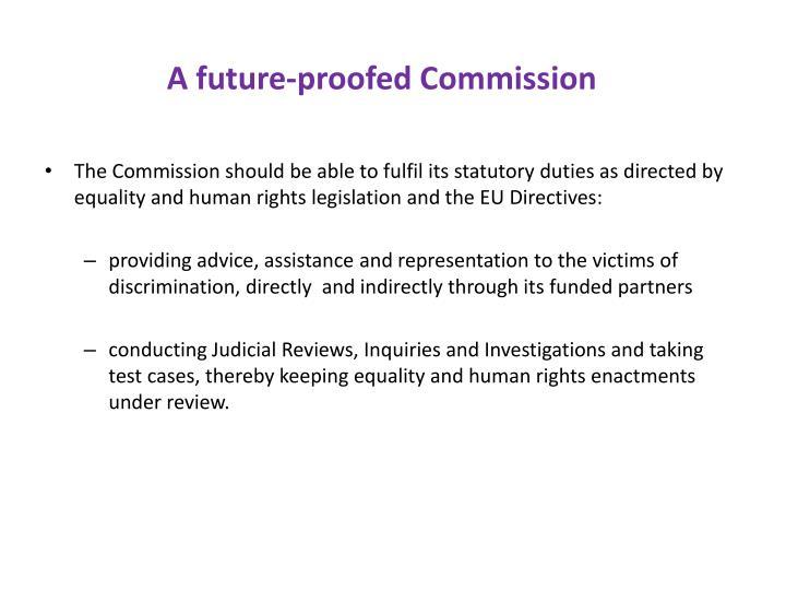 A future-proofed Commission