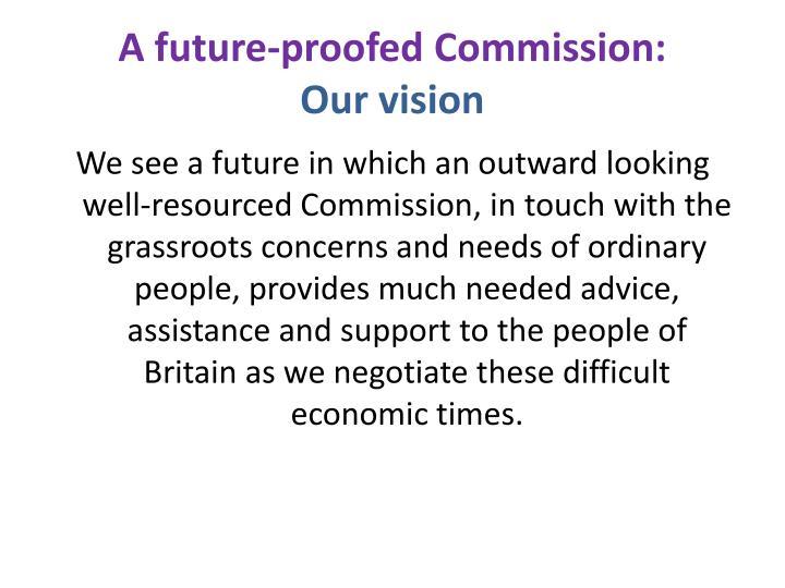 A future-proofed Commission:
