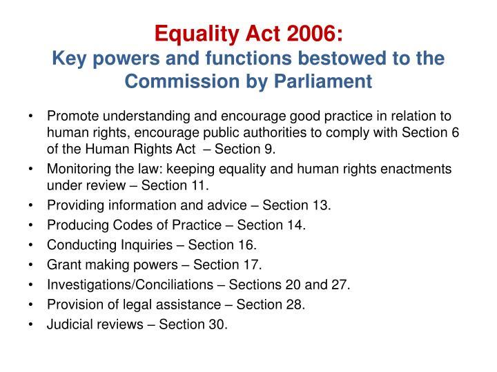 Equality Act 2006:
