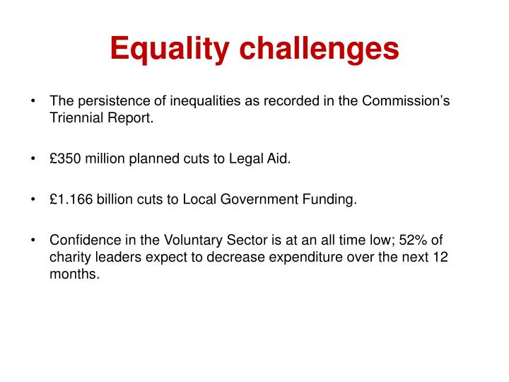 Equality challenges