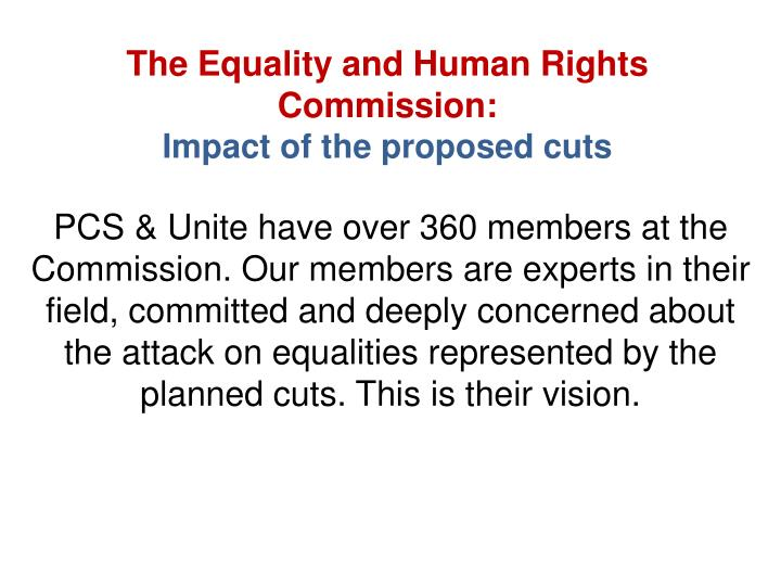 The Equality and Human Rights Commission: