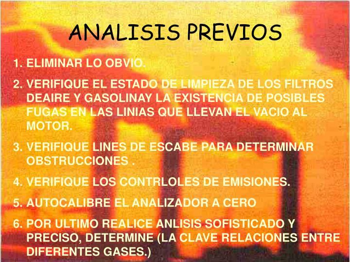 ANALISIS PREVIOS