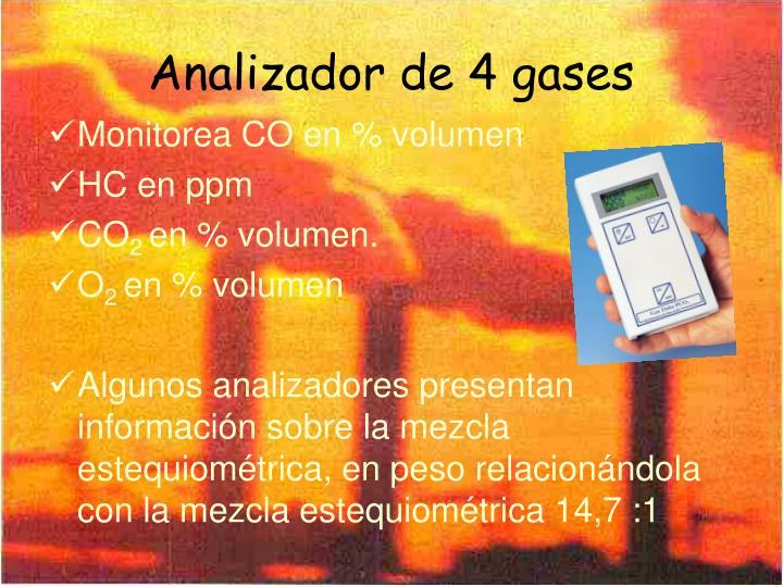 Analizador de 4 gases