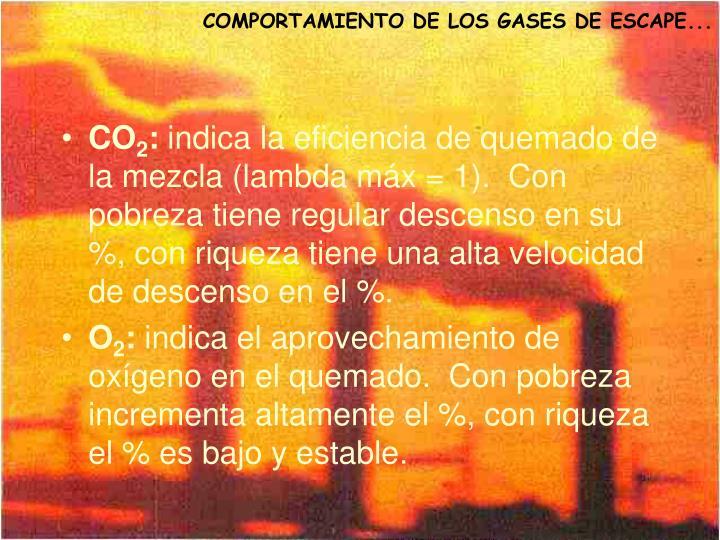 COMPORTAMIENTO DE LOS GASES DE ESCAPE...