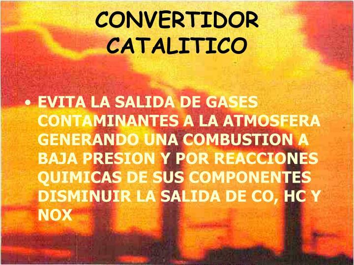 CONVERTIDOR CATALITICO
