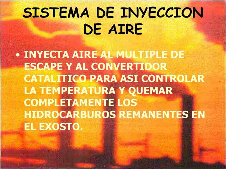 SISTEMA DE INYECCION DE AIRE
