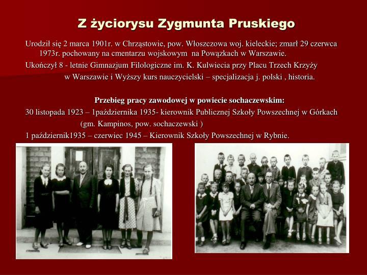 Z yciorysu Zygmunta Pruskiego