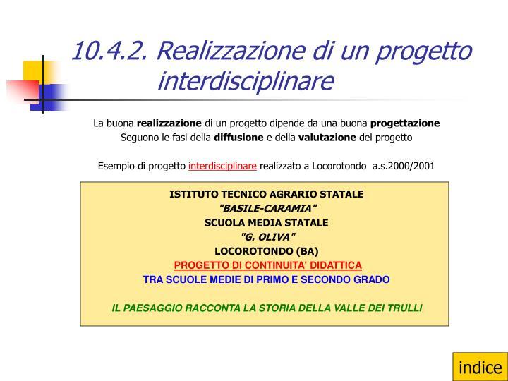 10.4.2. Realizzazione di un progetto