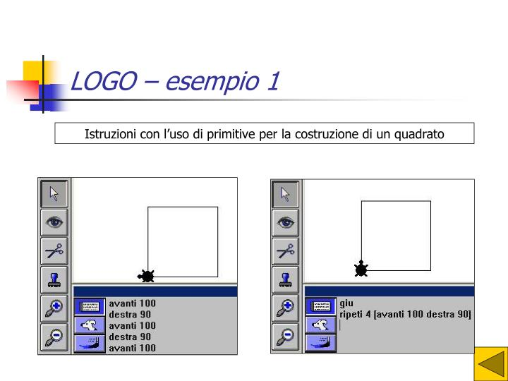 LOGO – esempio 1
