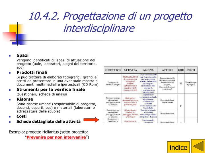 10.4.2. Progettazione di un progetto