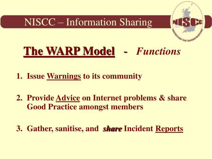 NISCC – Information Sharing
