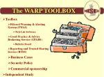 the warp toolbox