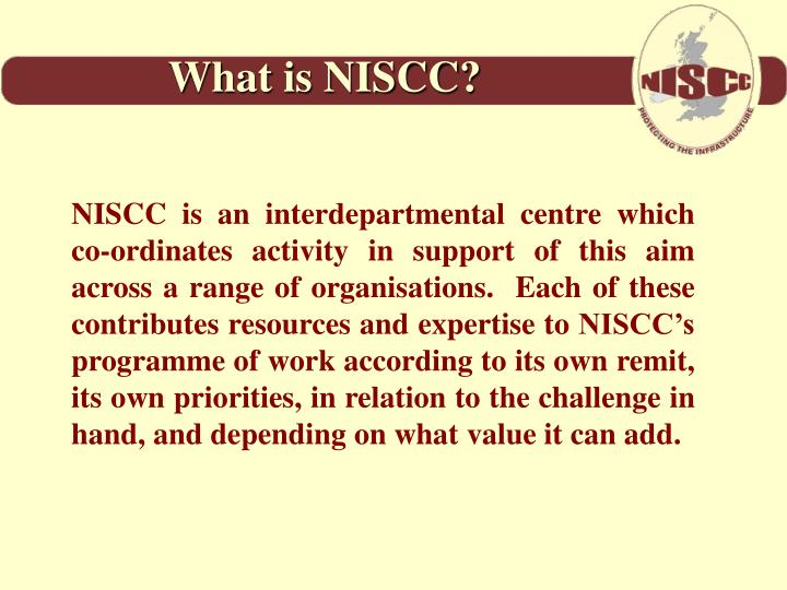 What is NISCC?