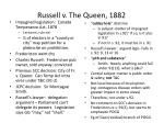 russell v the queen 1882