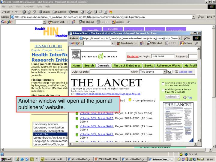 Accessing journals by title 4