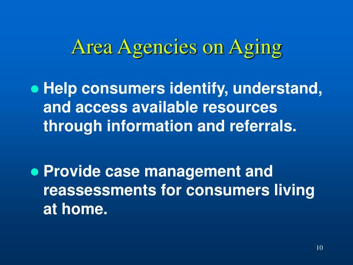 Area Agencies on Aging