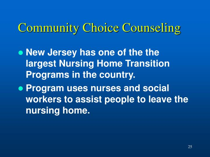 Community Choice Counseling