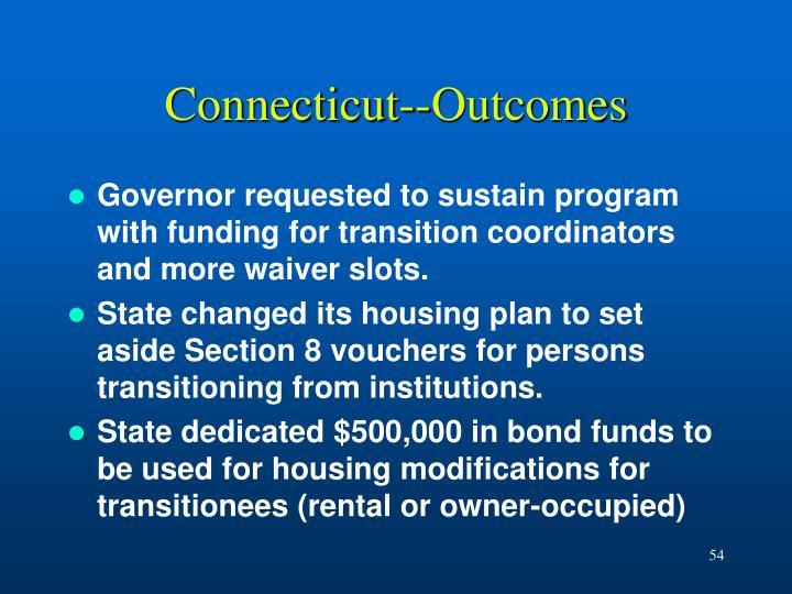 Connecticut--Outcomes