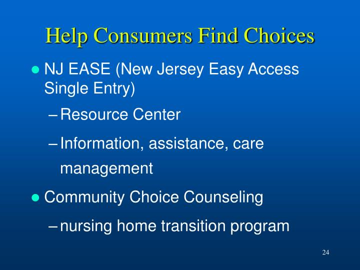 Help Consumers Find Choices