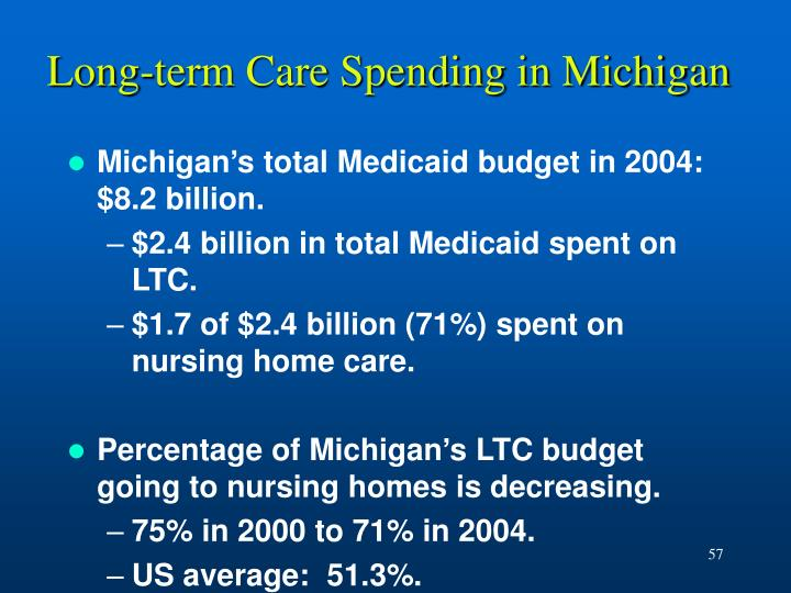 Long-term Care Spending in Michigan