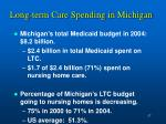 long term care spending in michigan