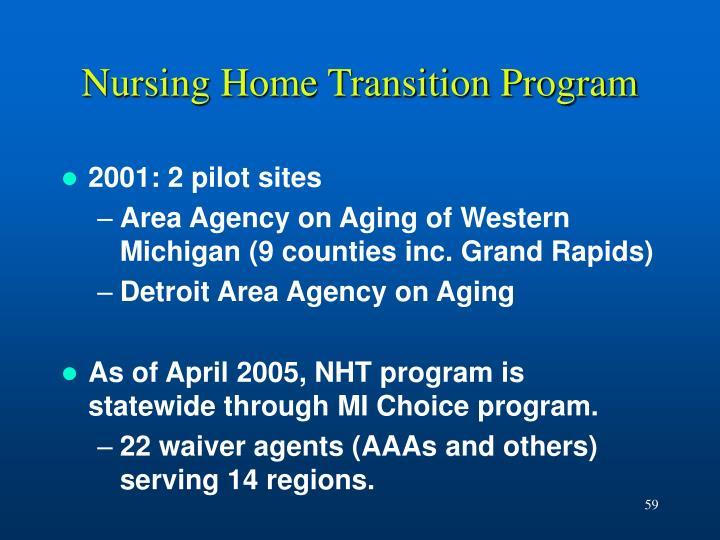 Nursing Home Transition Program