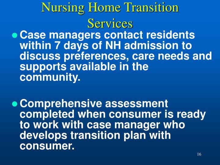 Nursing Home Transition Services